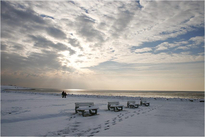 Wintereinbruch an der Nordsee....