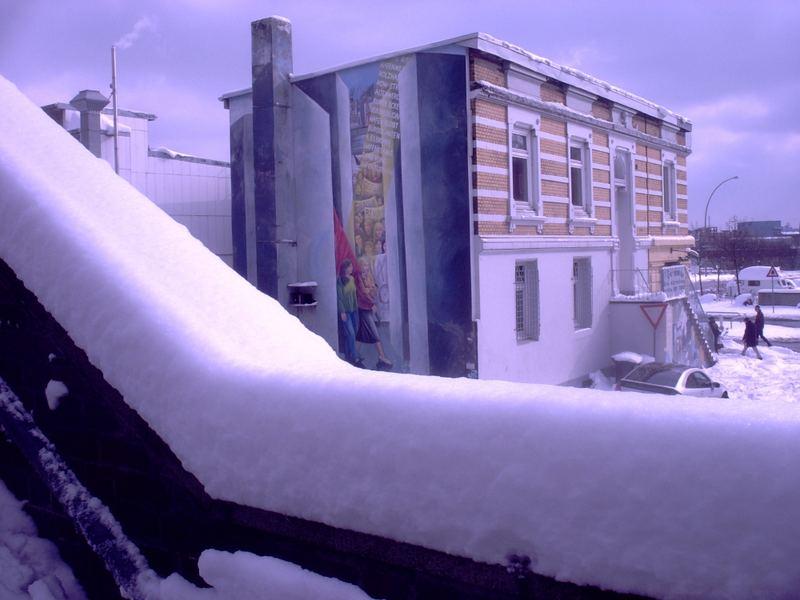 Wintereinbruch Hafengebiet