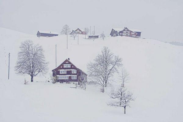 Wintereinbruch in der Schweiz
