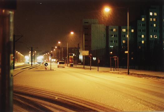 Wintereinbruch in der Stadt