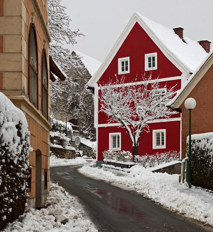 Wintereinbruch in Gratwein bei Graz!