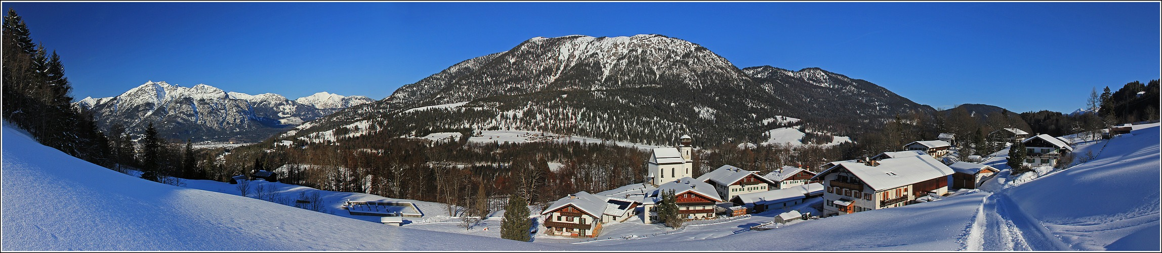 Winterfreuden über Garmisch Partenkirchen