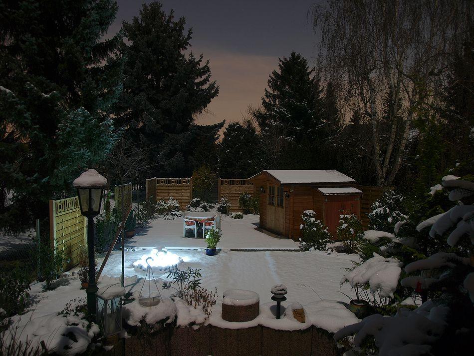 Wintergarten im Mondschein