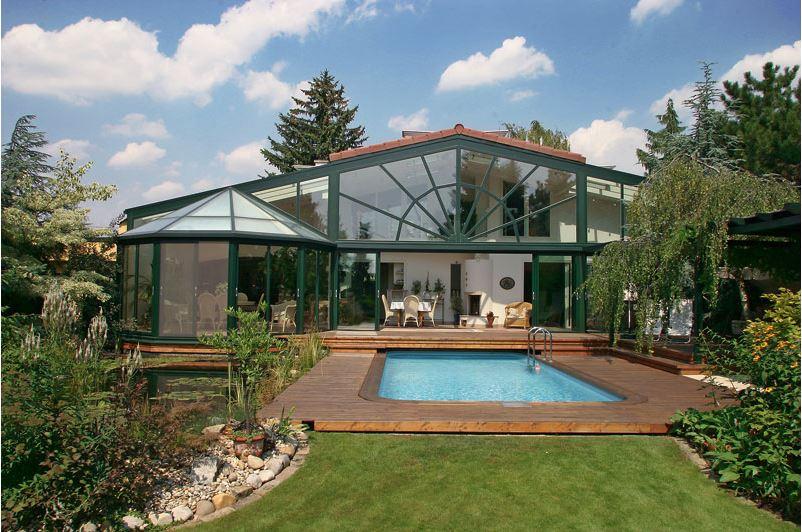 wintergarten und pool foto bild architektur l ndliche. Black Bedroom Furniture Sets. Home Design Ideas