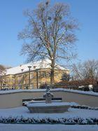 Wintergrüße vom Brunnen in Potsdam