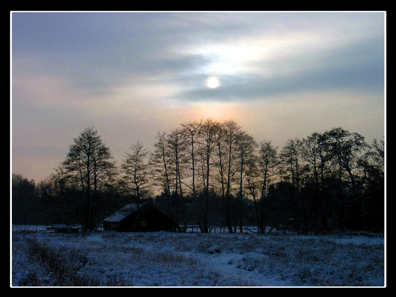 Winterhimmel in Norderstedt