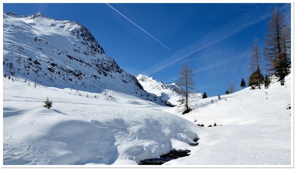 Winteridylle am Staller Sattel