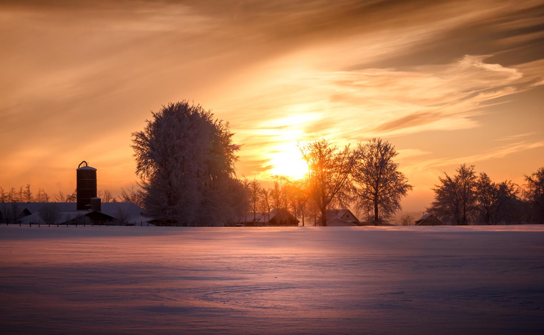 Winteridylle Eifellandschaft