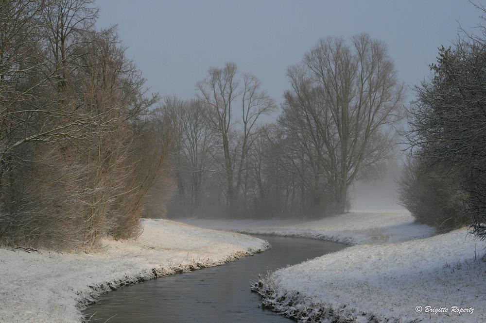 Winterimpression entlang der Erft
