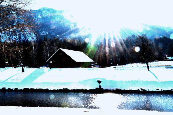 Winterimpression in Blau, II