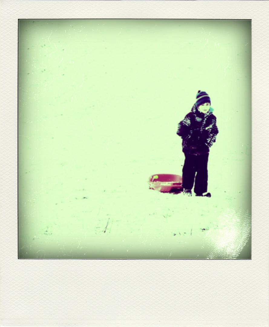 Winterimpression in Polaroid