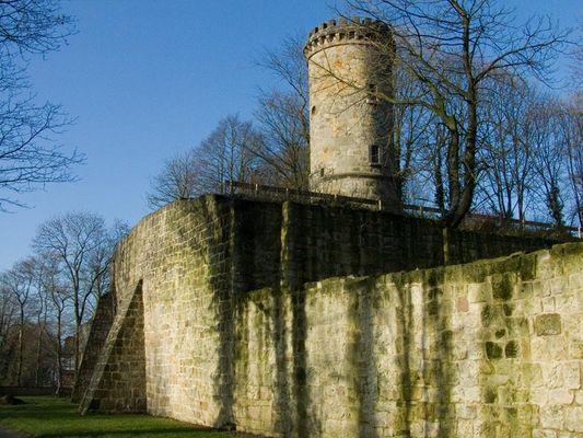 Winterimpressionen auf der Burgruine Tecklenburg
