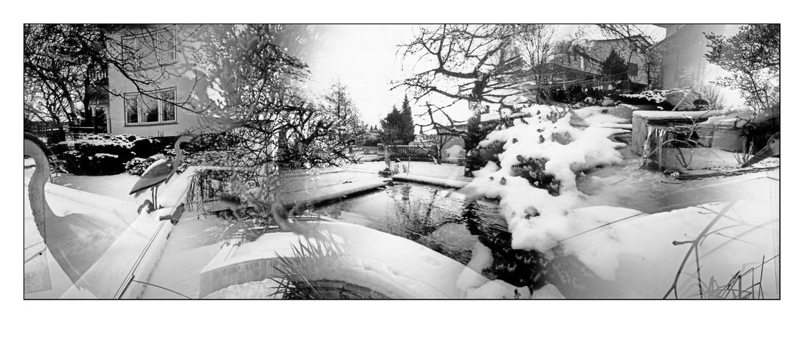 Winterimpressionen II (Sextuple-Pinhole-Blender = 360° Fotografie)