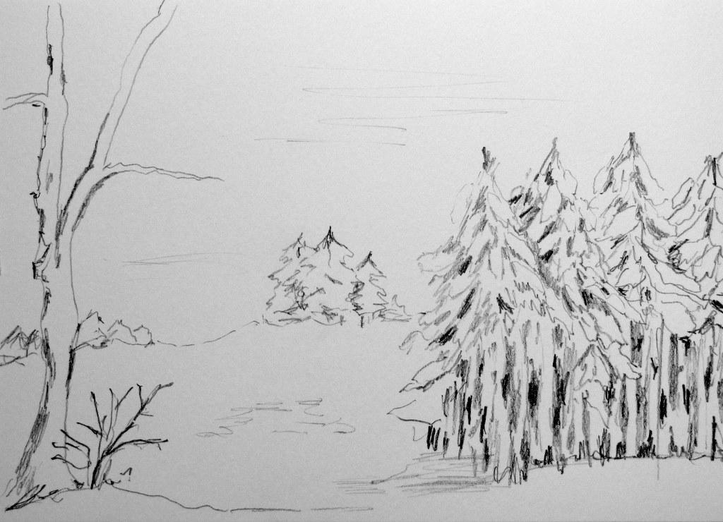 Winterland Skizze
