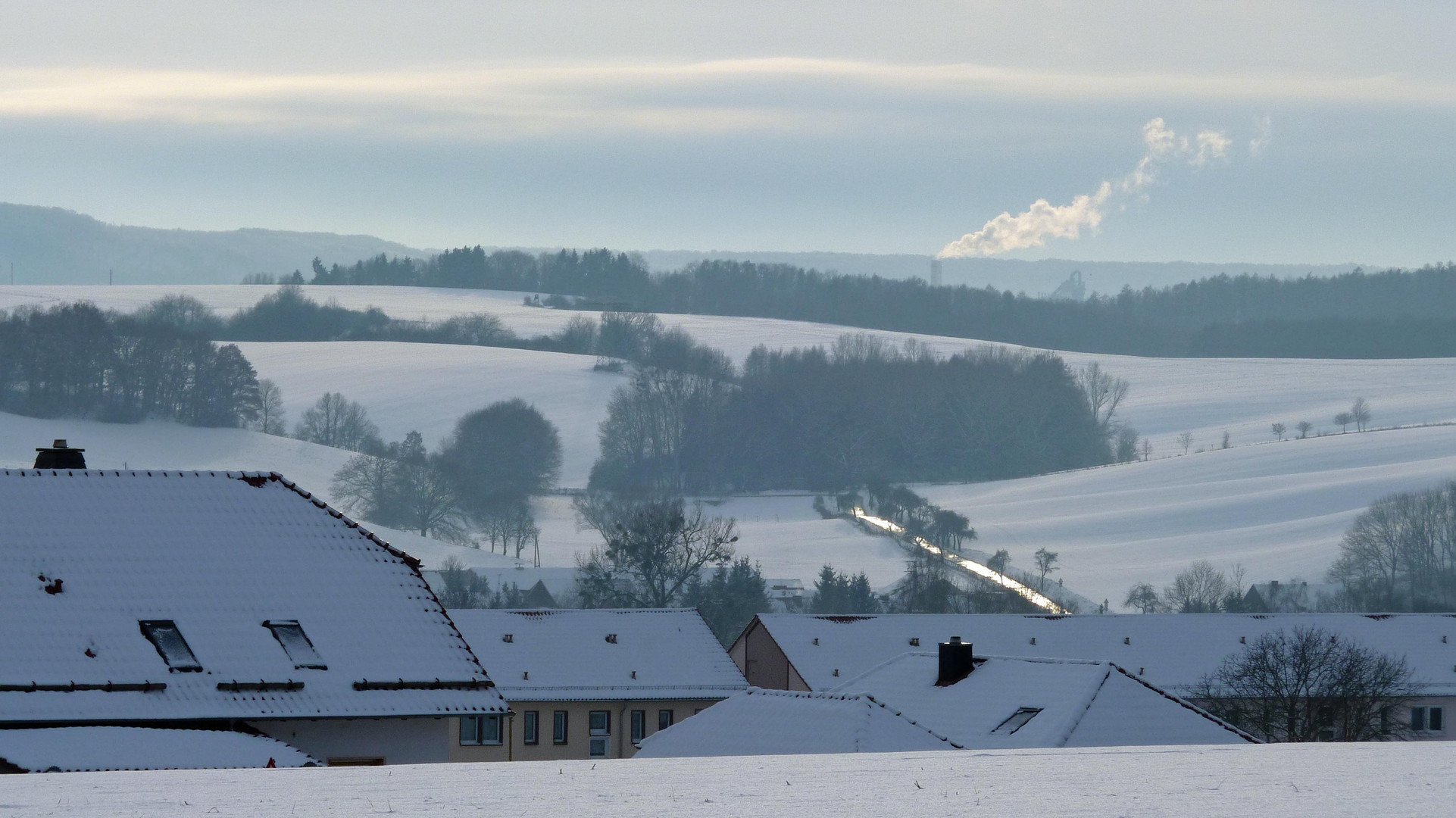 Winterlandschaft am Eichsfelder Tor