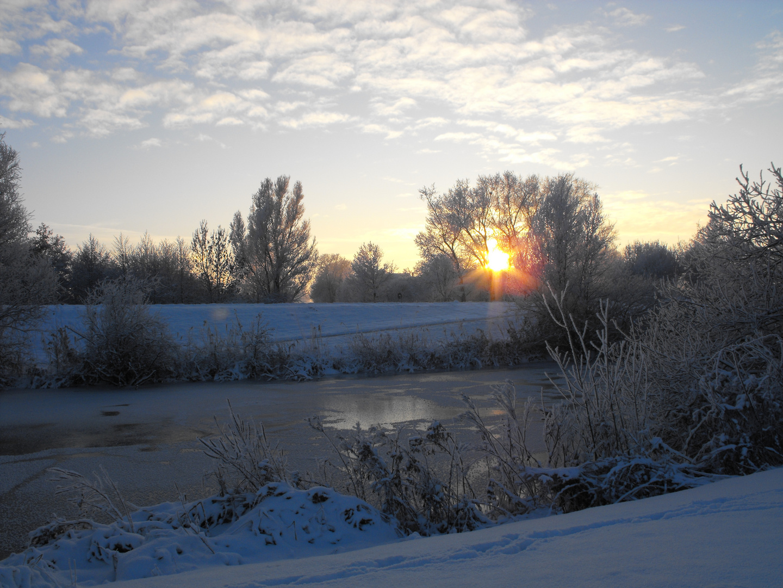 Winterlandschaft an der Ochtum