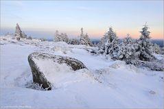 Winterlandschaft auf dem Brocken