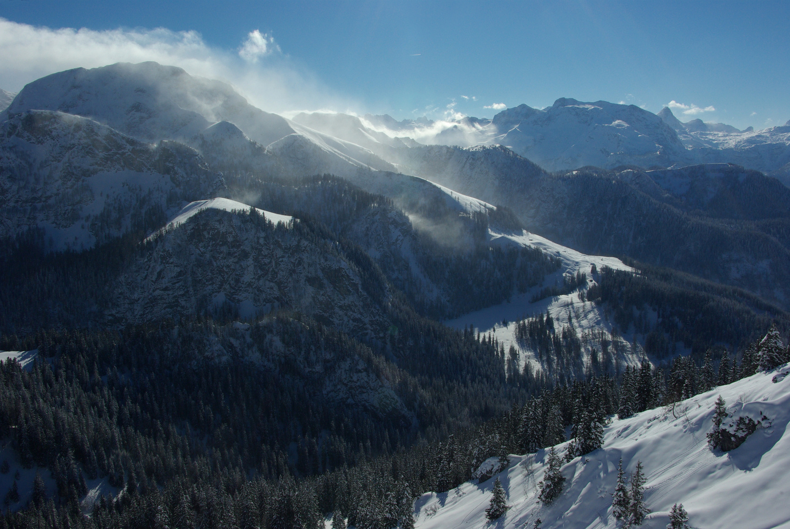 Winterlandschaft bei Berchtesgaden