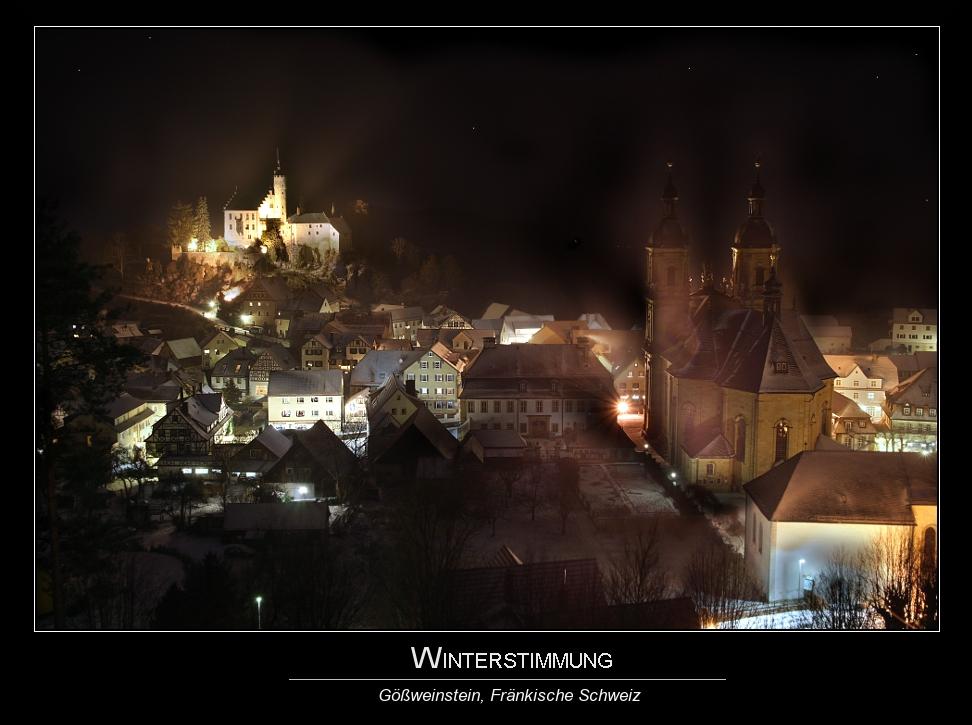 Winterlandschaft Gößweinstein