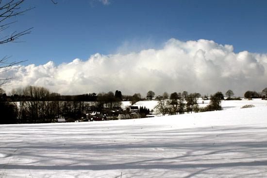 Winterlandschaft im Bergischen Land