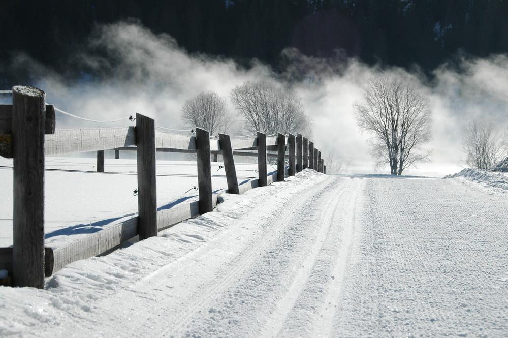 Winterlandschaft im Engadin (Schweiz)