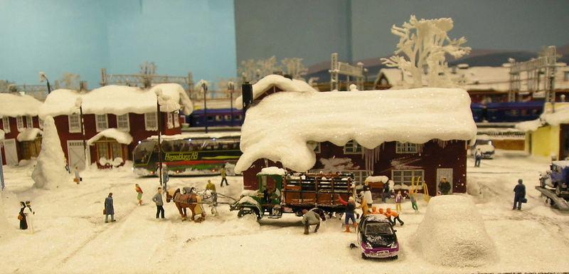 Winterlandschaft im Miniaturwunderland