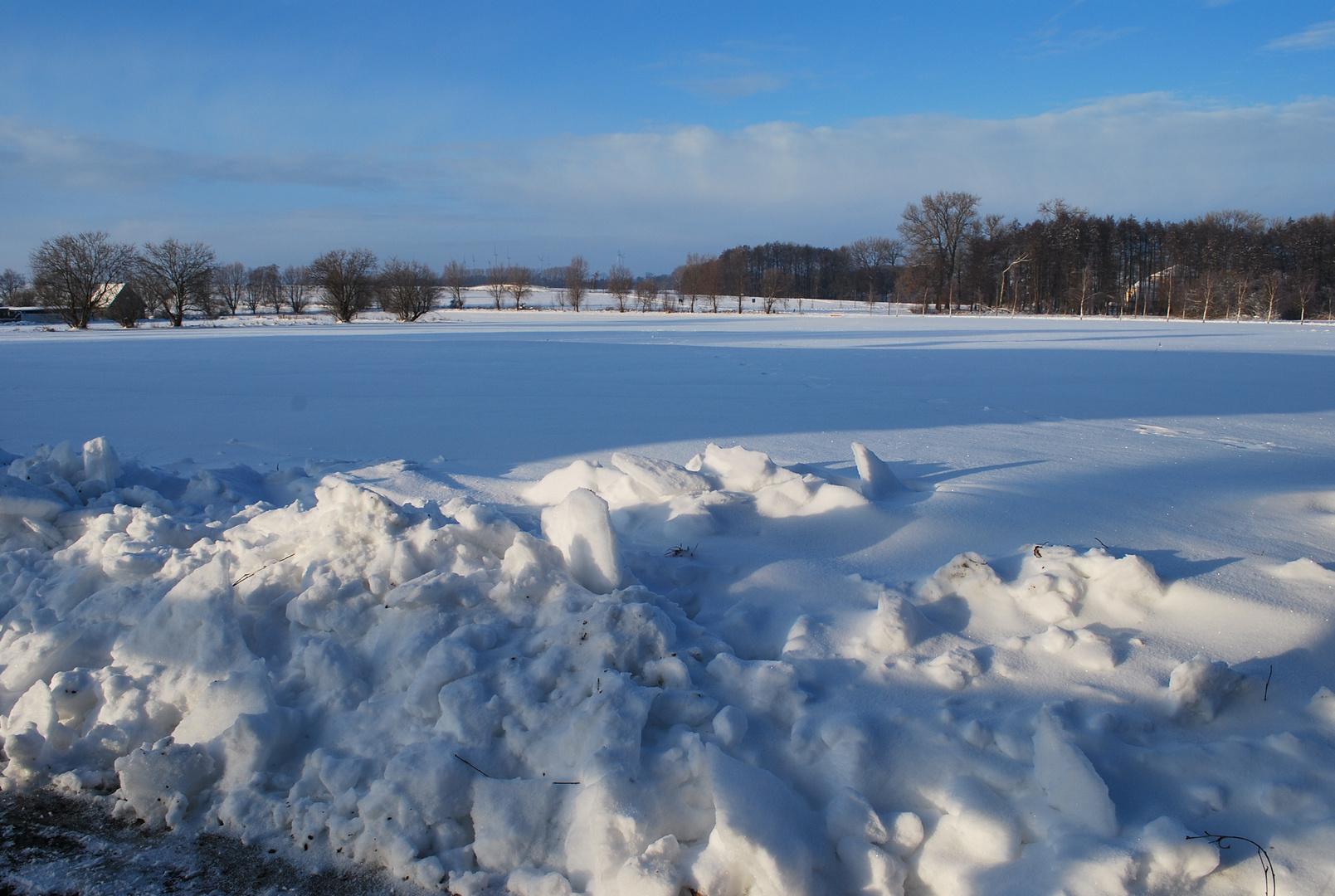 Winterlandschaft in der Prignitz