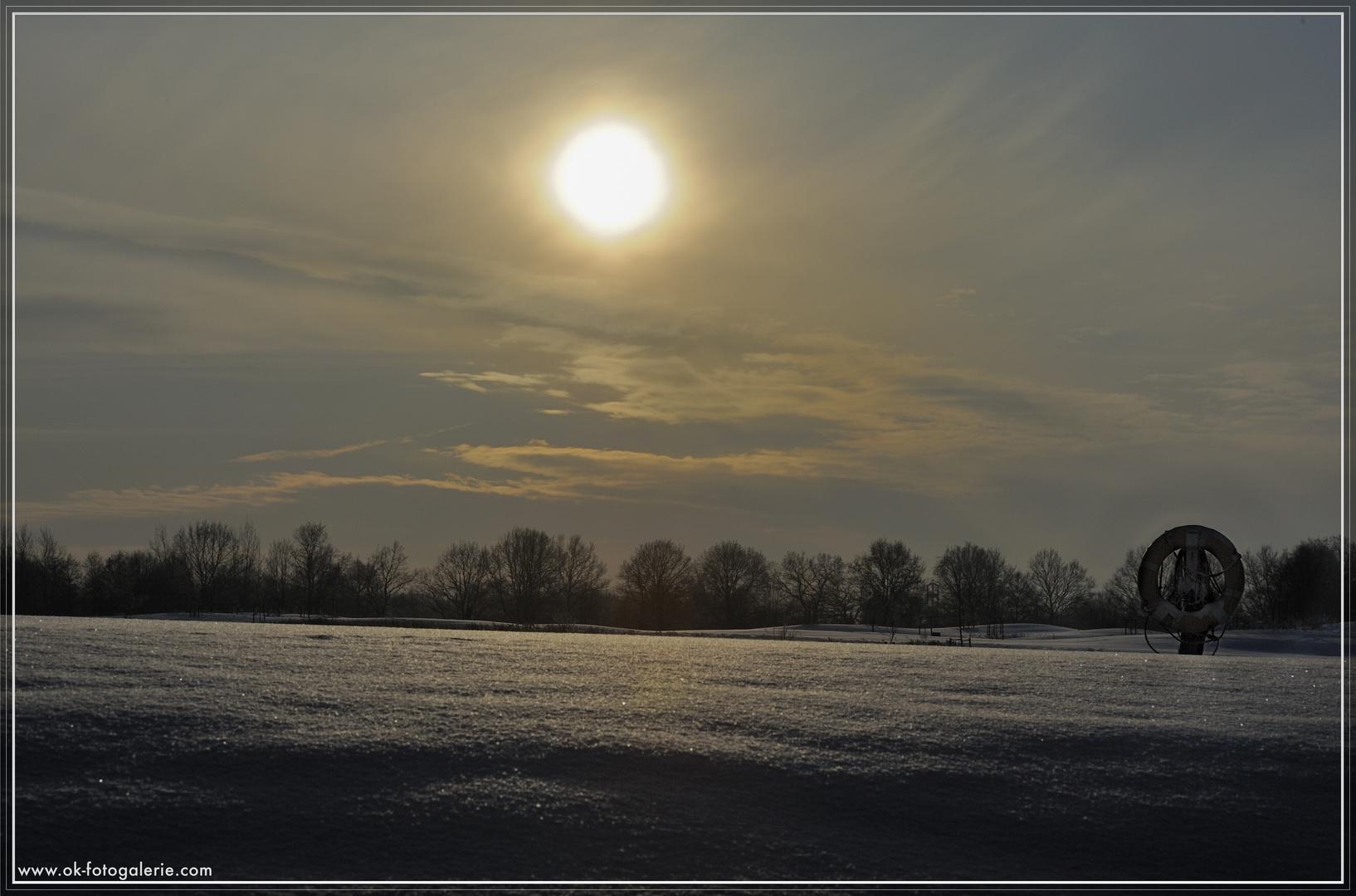 """Winterlandschaft in Hamburgs Norden """"Am Kupferteich"""""""