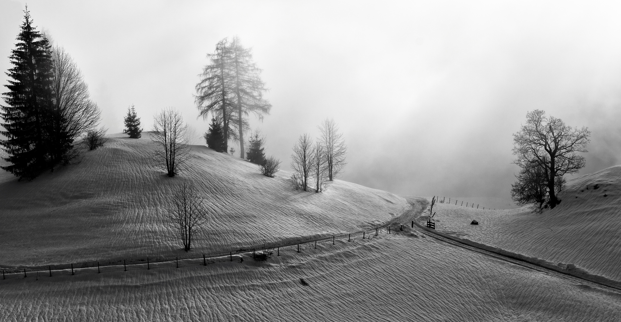 Winterlandschaft in Oberbayern