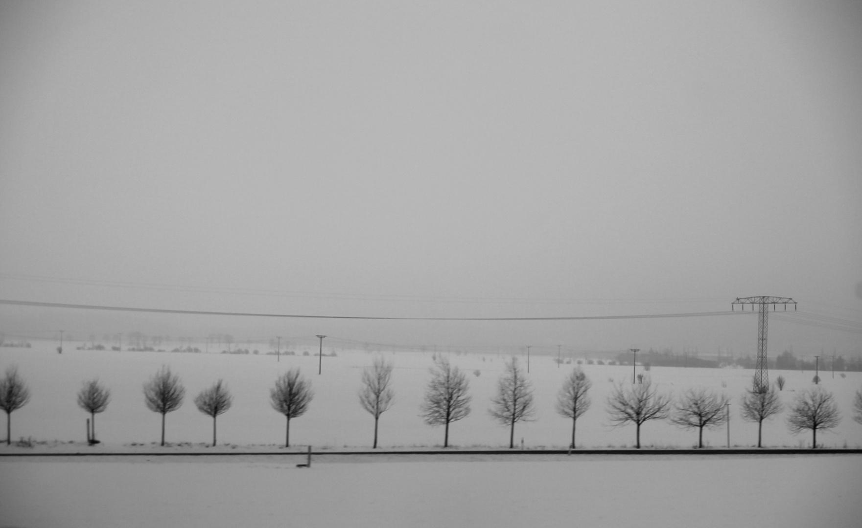 Winterlandschaft nähe Erfurt
