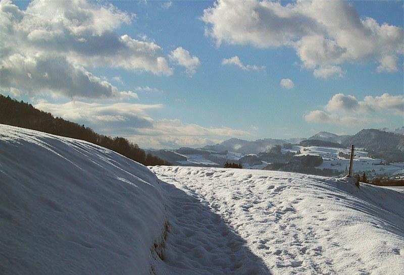 Winterlandschaft (nun in Farbe)