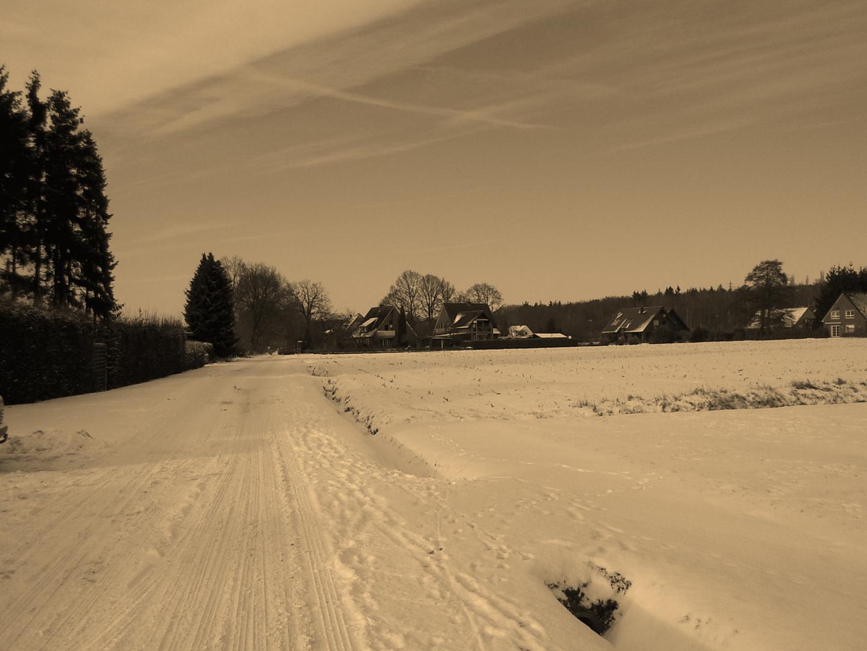 Winterlandschaft (Sephia)