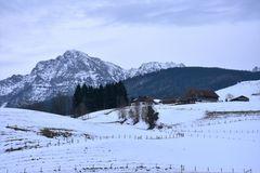 Winterliche Bergidylle