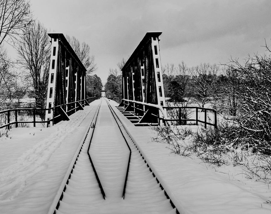 Winterliche Brücke