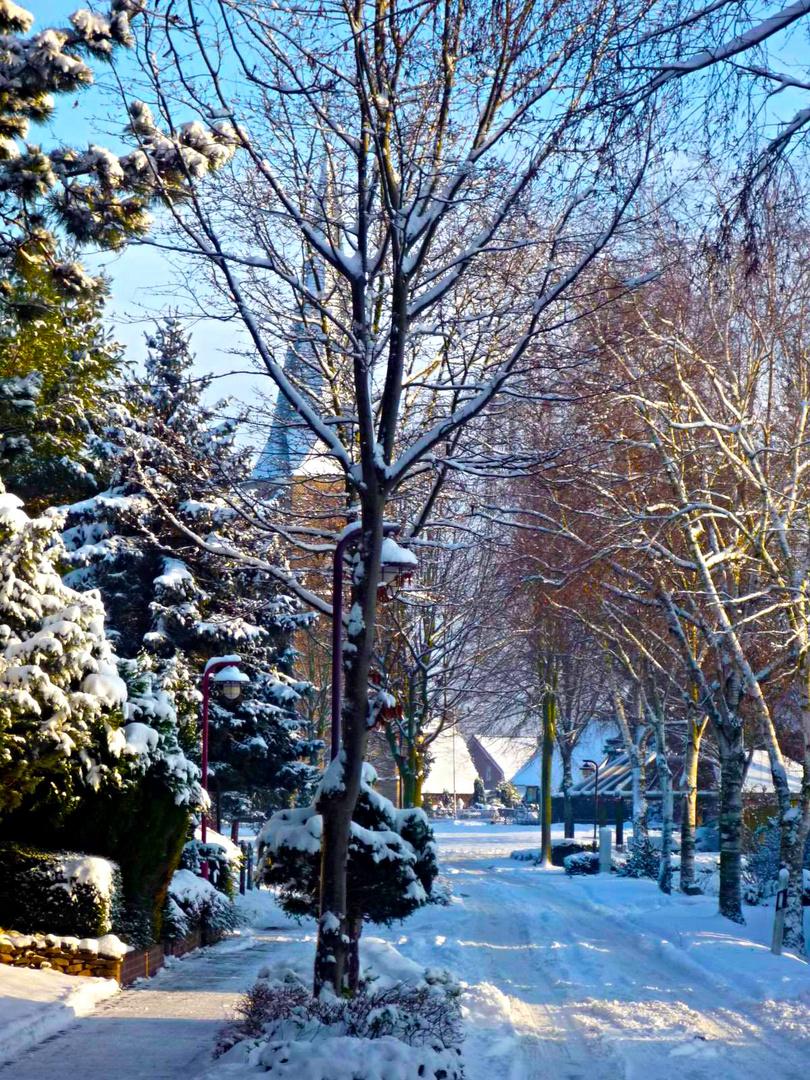 Winterliche Dorfidylle