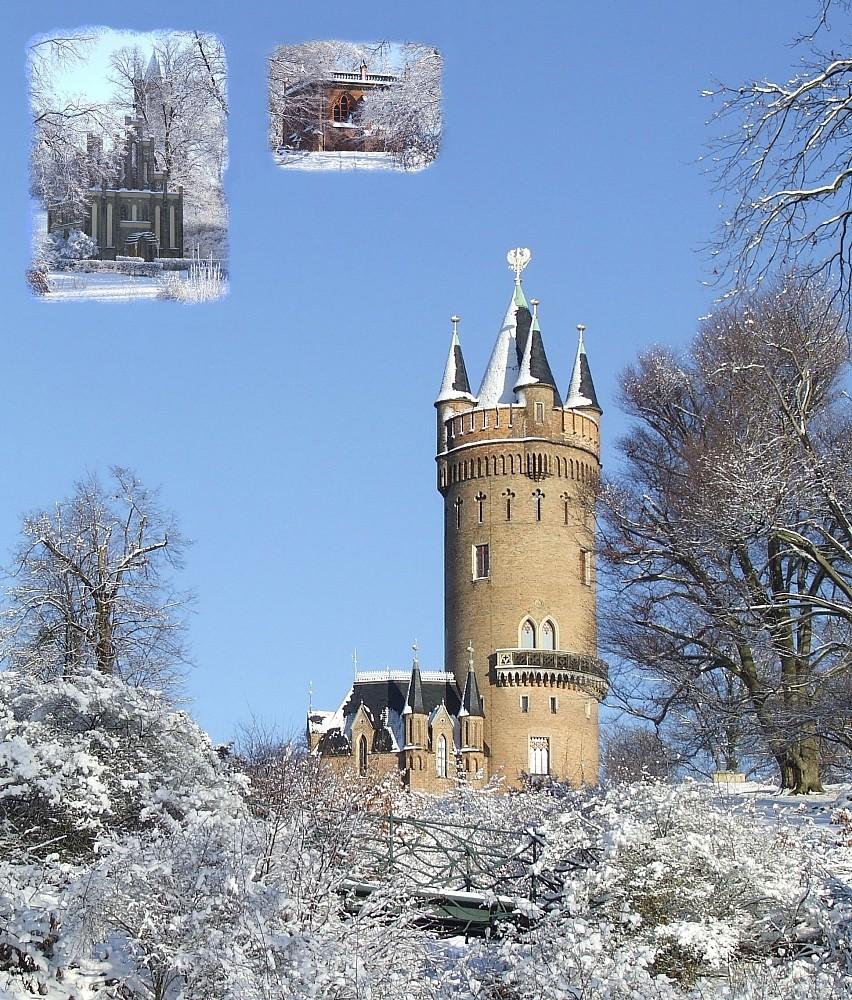 winterliche Impression aus dem Babelsberger Park