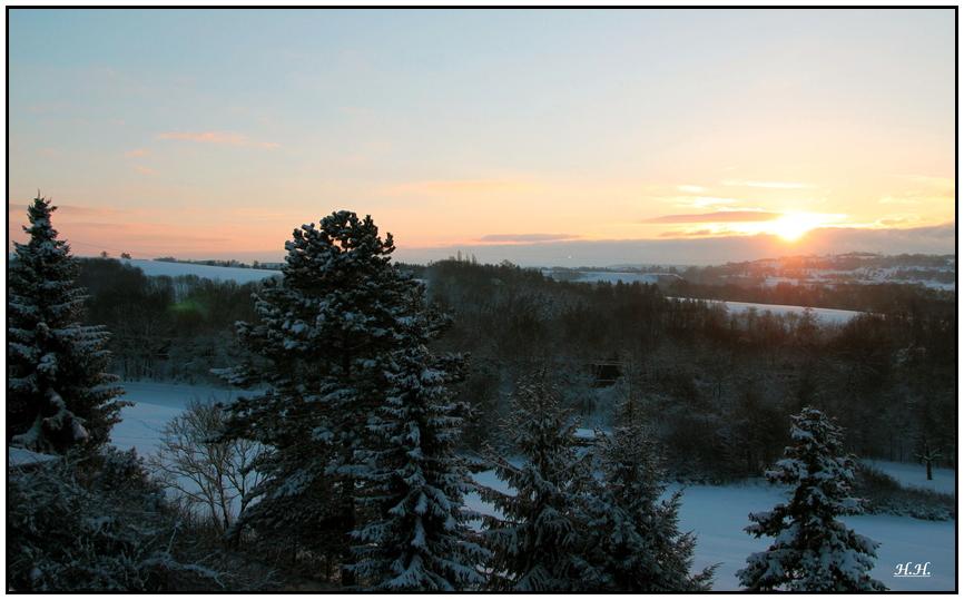 winterliche Morgenröte .....