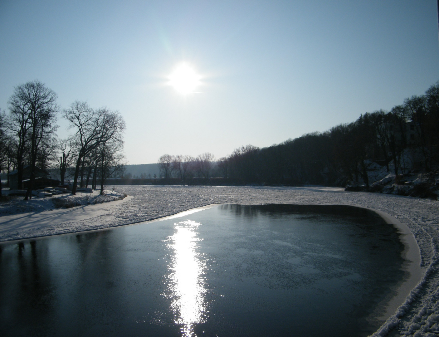 winterliche Mulde