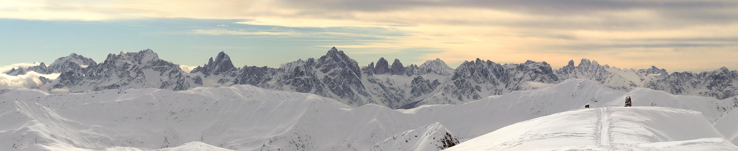 winterliche Sextner Dolomiten