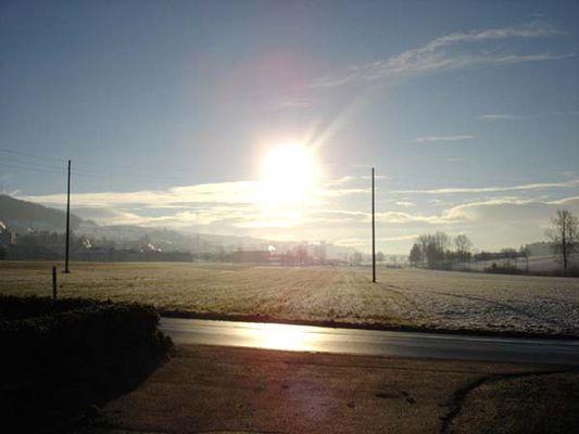 Winterliche Sonnenstrahlen