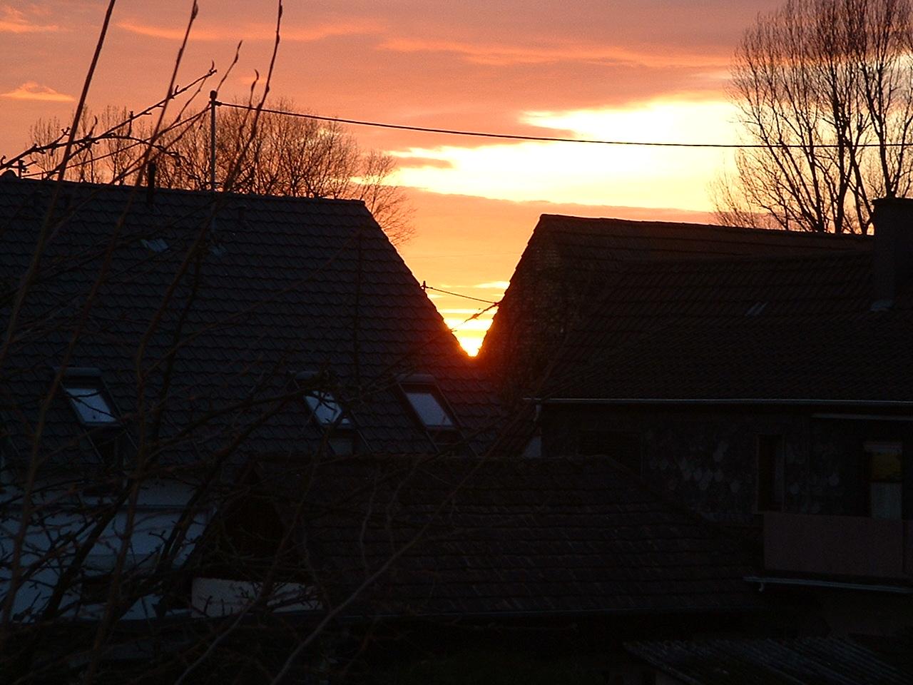 Winterliche Sonnenuntergänge Januar-März 2011