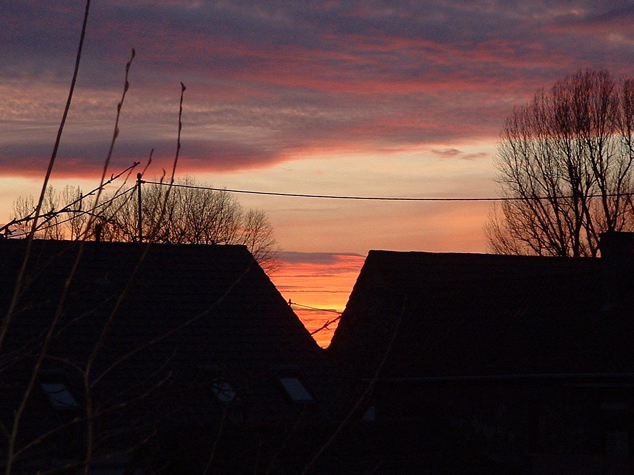 Winterliche Sonnenuntergang Januar 2011