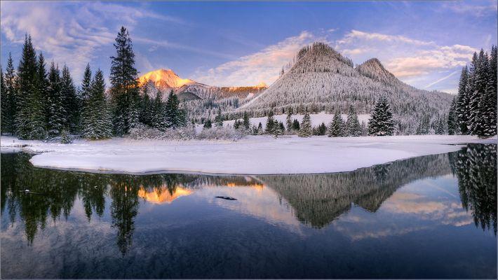Winterliche Spiegelung
