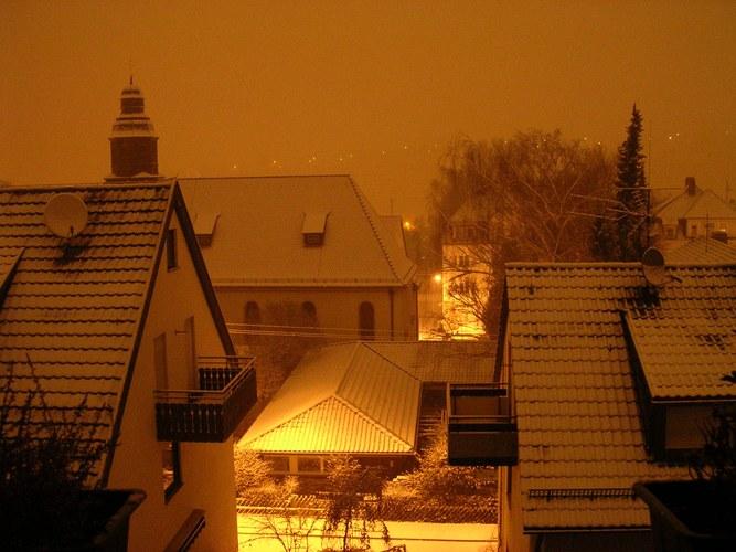Winterliche Stadtidylle