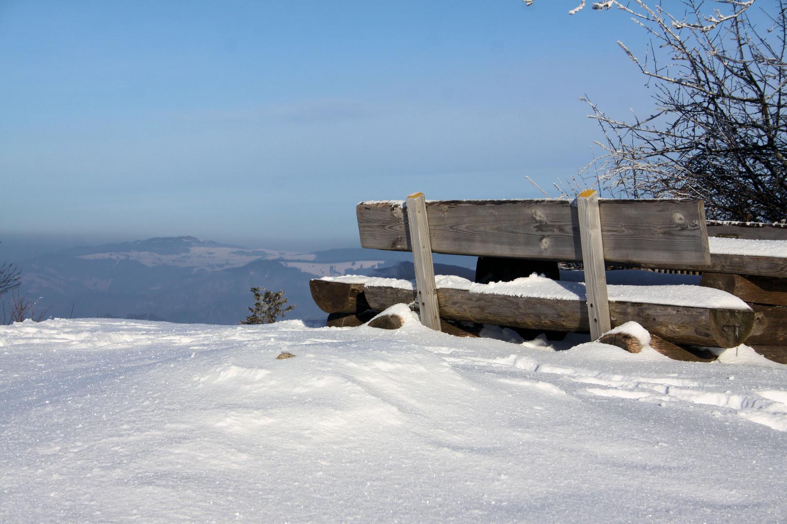 Winterliche Stimmung auf dem Blauen