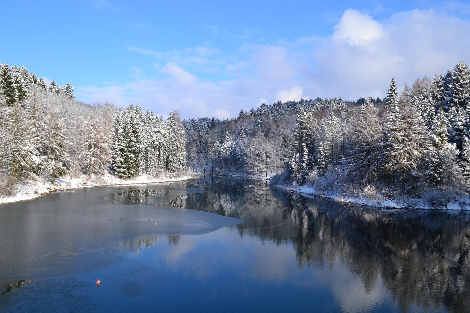 Winterliche Talsperre