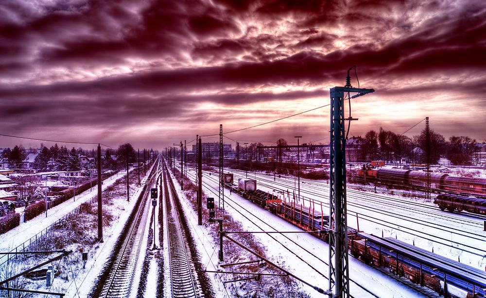 Winterliche Zugromantik