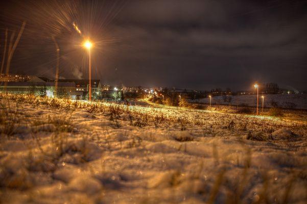Winterlicher Bahndamm bei Ilmenau