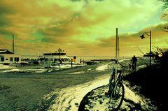Winterlicher Hafen ( Hiddensee )