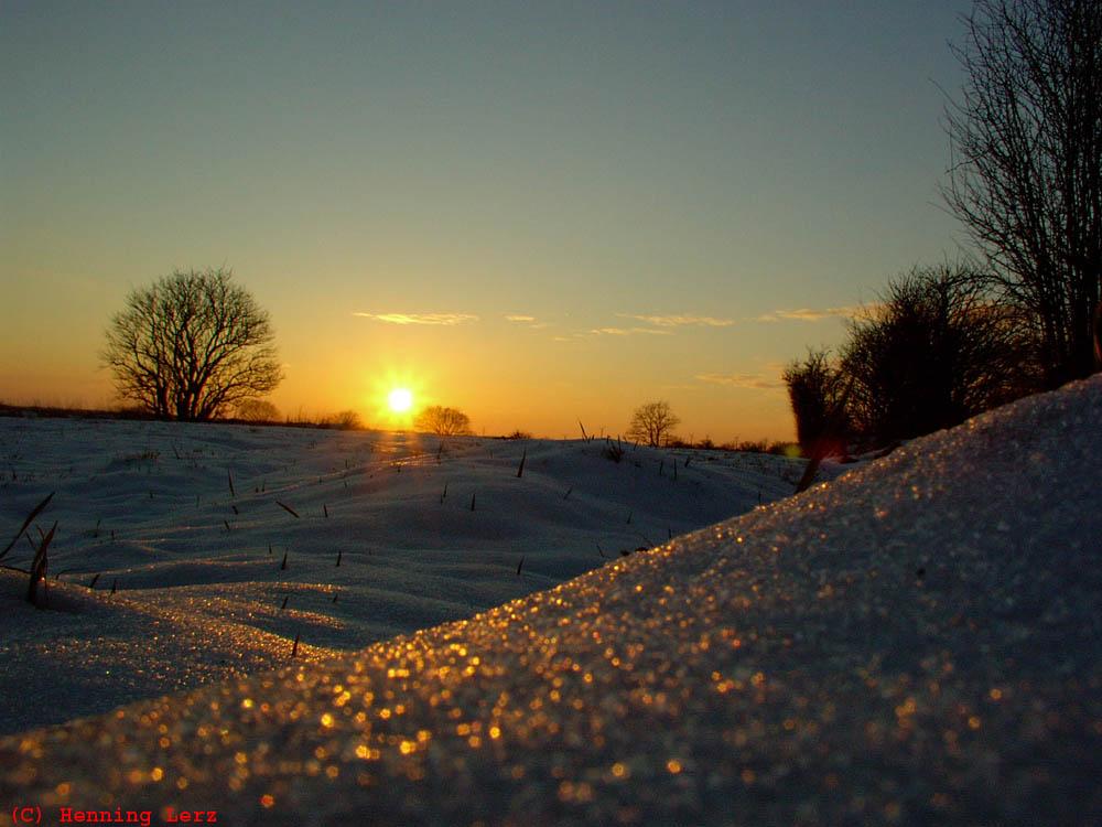 Winterlicher Sonnenuntergang...